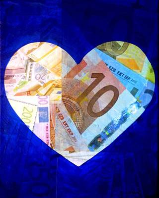 Money Collage I Poster by John  Nolan