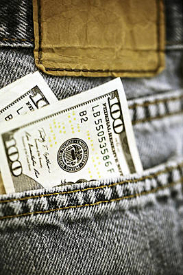 Poster featuring the photograph Money Jeans by Trish Mistric