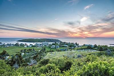 Monhegan Sunset Poster by Tim Sullivan