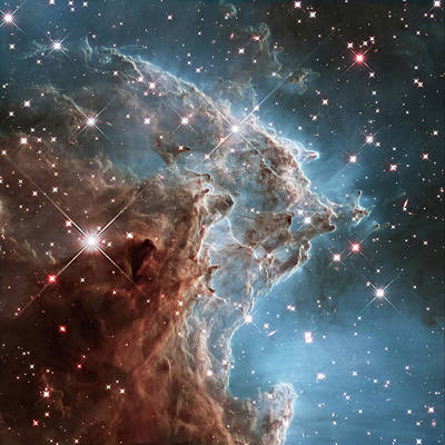 Poster featuring the photograph Monkey Head Nebula by Marco Oliveira