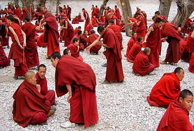 Monks Debating Poster by Yvette Depaepe