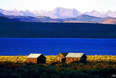 Mono Lake Cabins Poster by David Lee Thompson