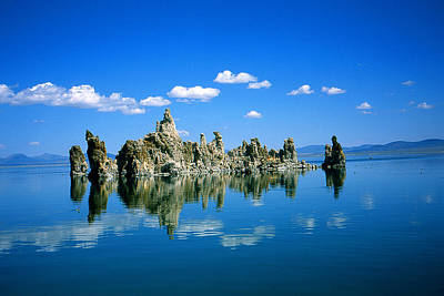 Blue Mono Lake Tufa Towers California Poster