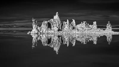 Mono Lake In Monochrome Poster
