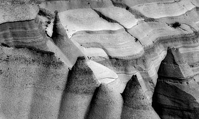 Monochrome Hoodoos Poster by Jane Selverstone