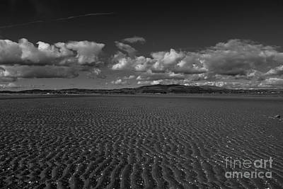 Monochrome Sand Ripples Poster