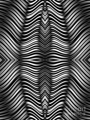 Monochrome Zebra Poster