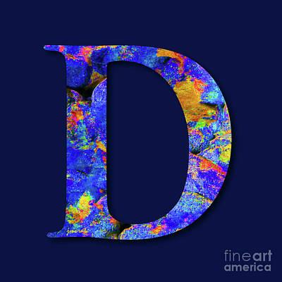 Monogrammed D, M1 Poster