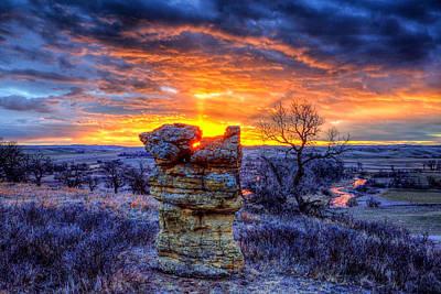 Monolithic Sunrise Poster
