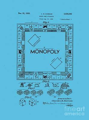 Monopoly Original Patent Art Drawing T-shirt Poster