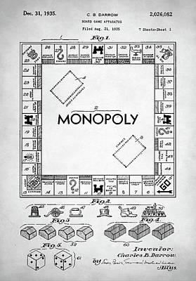Monopoly Patent Poster by Taylan Apukovska