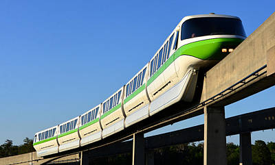 Monorail Green Poster
