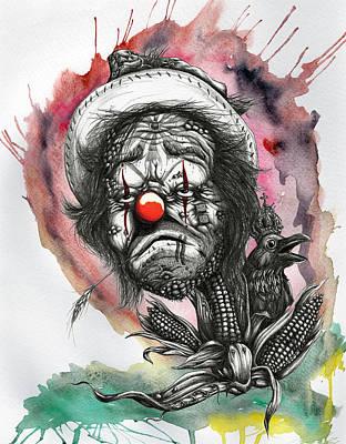 Monsanto's Sad Clown Corn Affair Poster