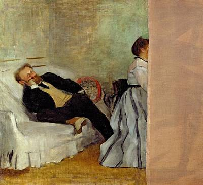 Monsieur And Madame Edouard Manet Poster by Edgar Degas