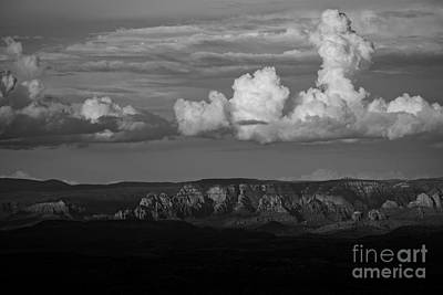 Poster featuring the photograph Monsoon Clouds Over Sedona by Ron Chilston