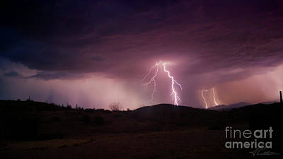 Poster featuring the photograph Monsoon Lightning by Anthony Citro