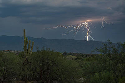 Poster featuring the photograph Monsoon Lightning by Dan McManus