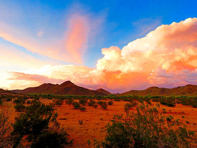Monsoon Storm Sunset Poster