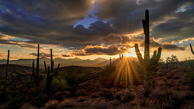 Poster featuring the photograph Monsoon Sunburst by Anthony Citro