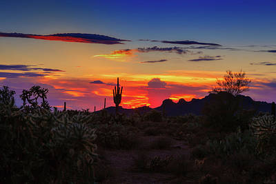 Poster featuring the photograph Monsoon Sunset by Rick Furmanek