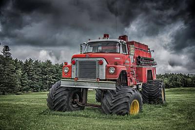 Monster Fire Truck Poster