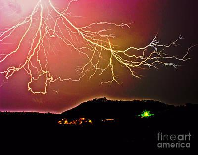 Monster Lightning By Michael Tidwell Poster