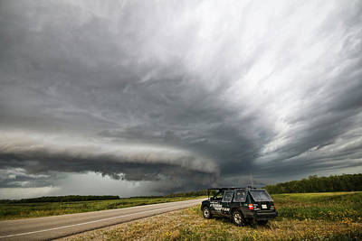 Monster Storm Near Yorkton Sk Poster