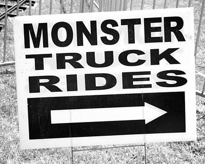 Monster Truck Rides Poster