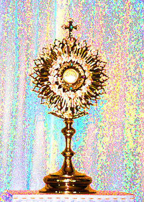 Monstrance Poster by Anne Cameron Cutri