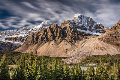 Mont Crowfoot On The Icefield Parkway Poster by Pierre Leclerc Photography