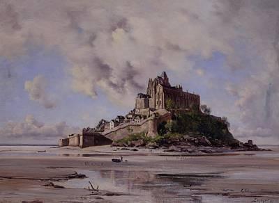 Mont Saint Michel Poster by Emmanuel Lansyer