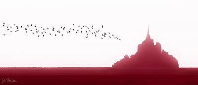 Mont Saint-michel Fantasy Poster by Joe Bonita