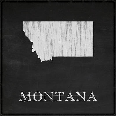 Montana Map Poster by Finlay McNevin