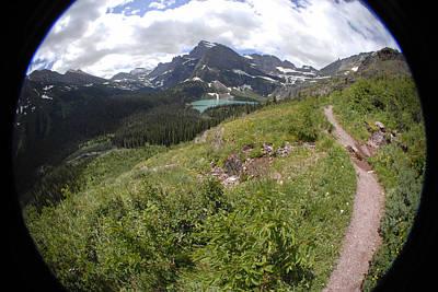 Montana Mountain Path  Poster