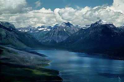 Montana Mountain Vista And Lake Poster