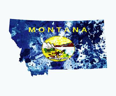 Montana Paint Splatter Poster