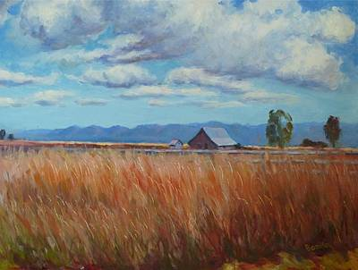 Montana Prairie In The Fall Poster by Bonita Waitl
