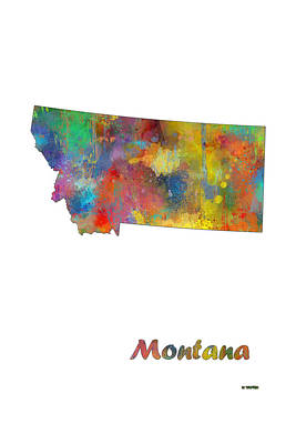 Montana State Map Poster