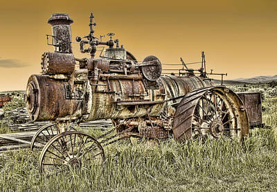 Montana Steam Punk - Nevada City Ghost Town Poster by Daniel Hagerman