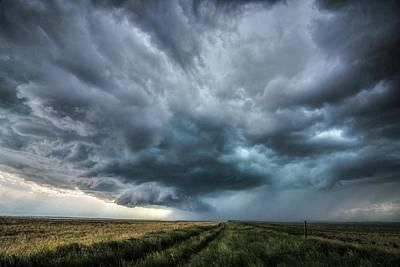 Montana Thunderstorm Poster
