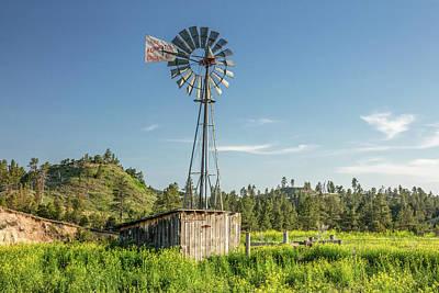 Montana Windmill Poster by Todd Klassy
