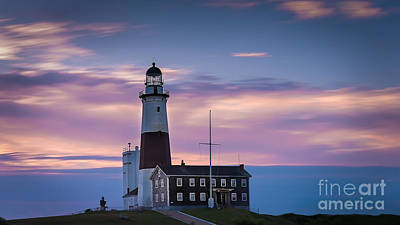Montauk Lighthousepastel  Sunrise Poster