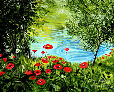 Poster featuring the painting Monte Rio Poppies by Elizabeth Robinette Tyndall