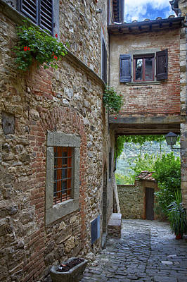 Montefioralle Tuscany 2 Poster