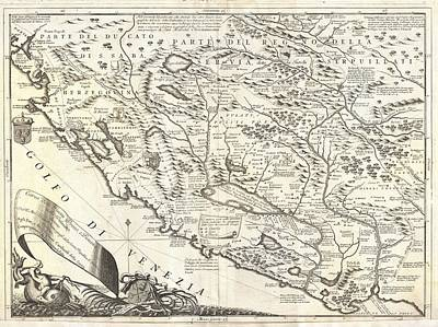 Montenegro 1690 Map Poster by Dan Sproul