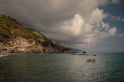 Monterosso Harbour Area Poster by Chris Fletcher