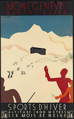 Mont_genevre Poster by David Wagner