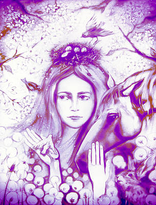 Month May Allegory. Lavender Poster