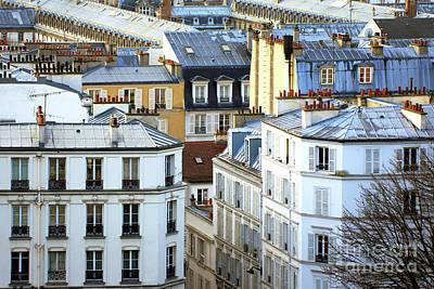 Montmartre View In Paris Poster