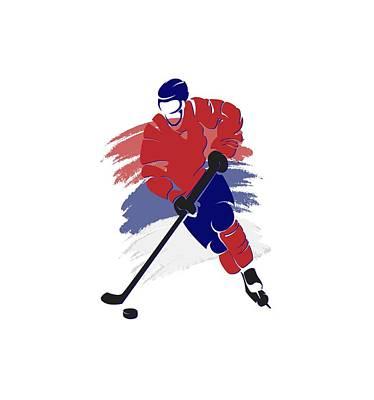Montreal Canadiens Player Shirt Poster by Joe Hamilton